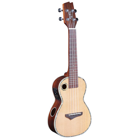 Concert Ukulele EUC-2N with solid Spruce top and Rosewood back and sides.